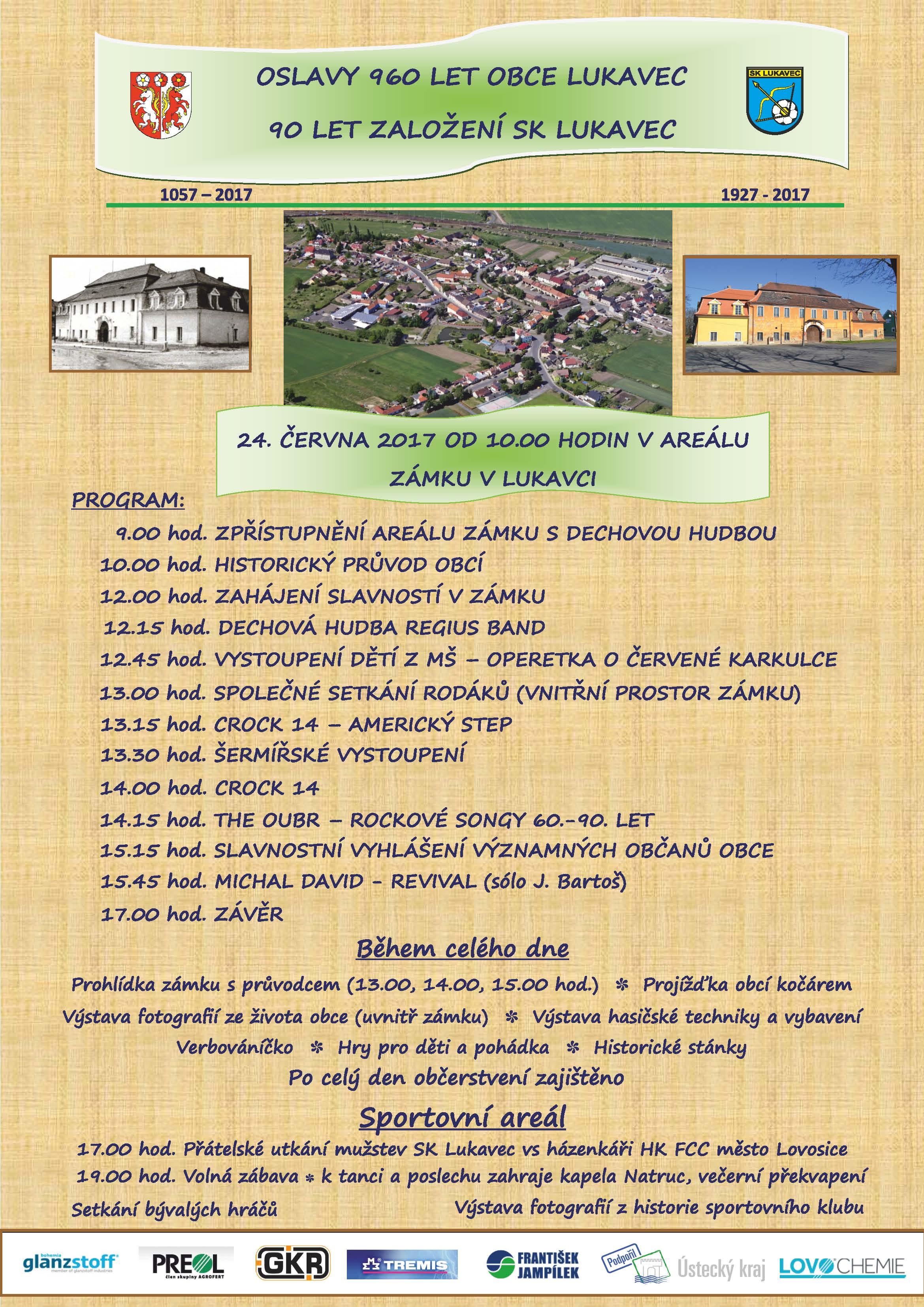 Výročí obce Lukavec 960 let